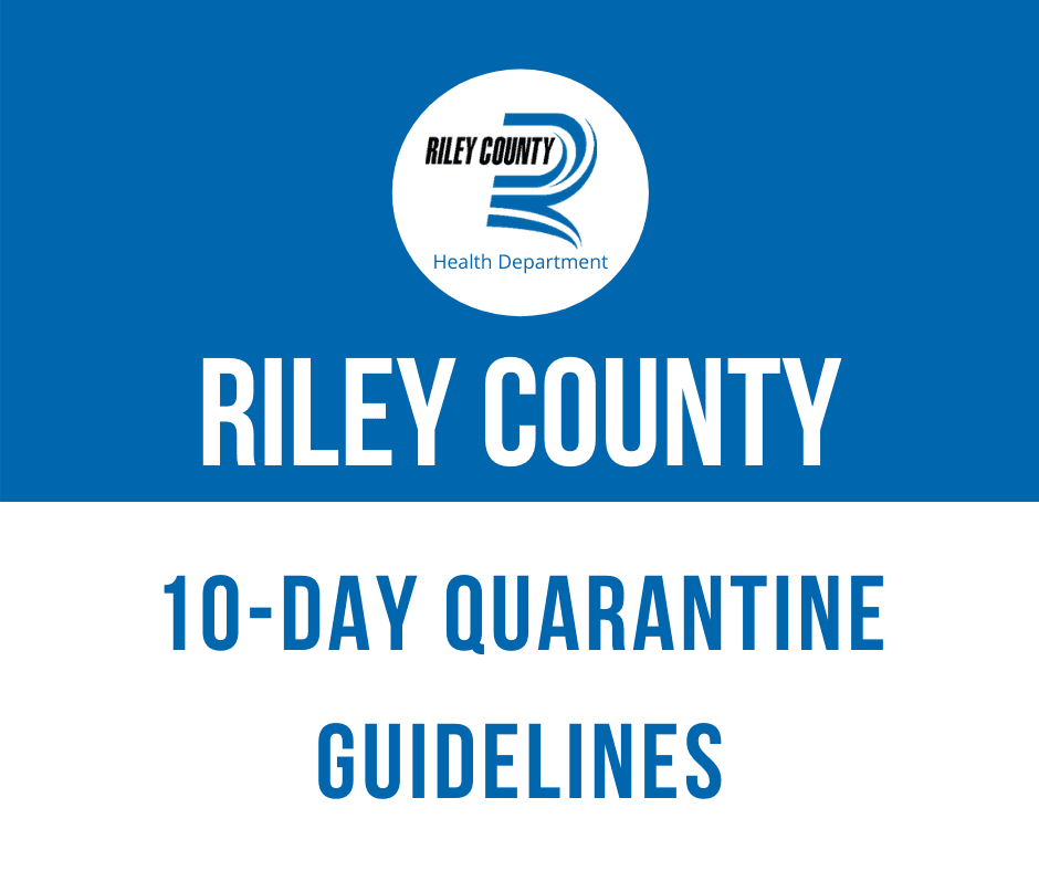graphic announcing 10 day quarantine guidelines