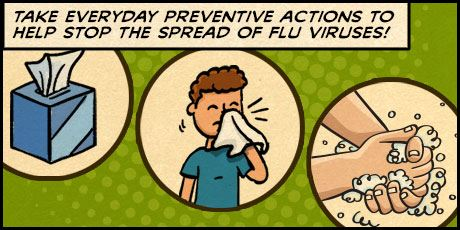 Take Everyday Preventive Actions to Help Stop the Spread of Flu Virus